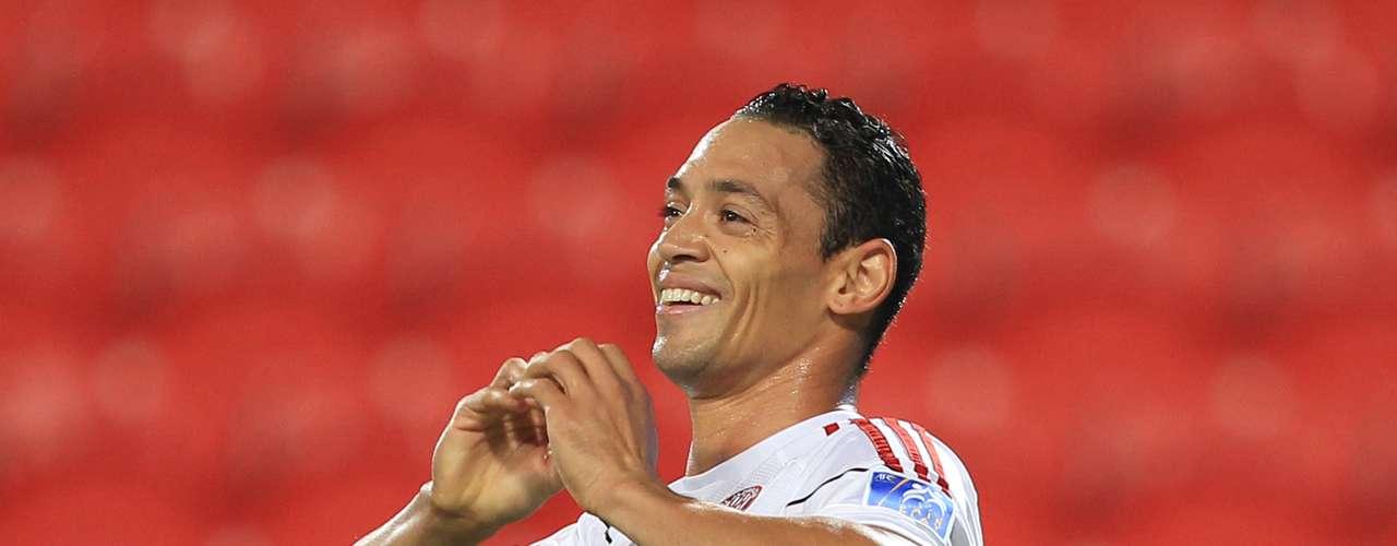 El brasileño Ricardo Oliveira, que tiene 12 goles internacionales con el Al Jazira de Abu Dhabi.