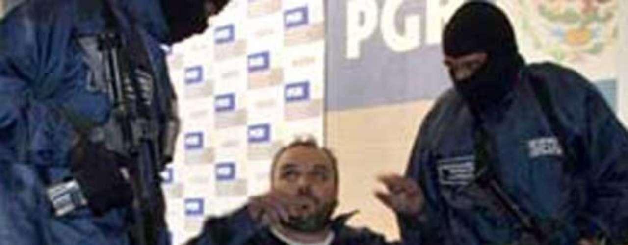 22-oct-2008.- Jesús Zambada García 'El Rey', jefe de uno de los grupos del Cártel de Sinaloa, es detenido tras una balacera en Ciudad de México