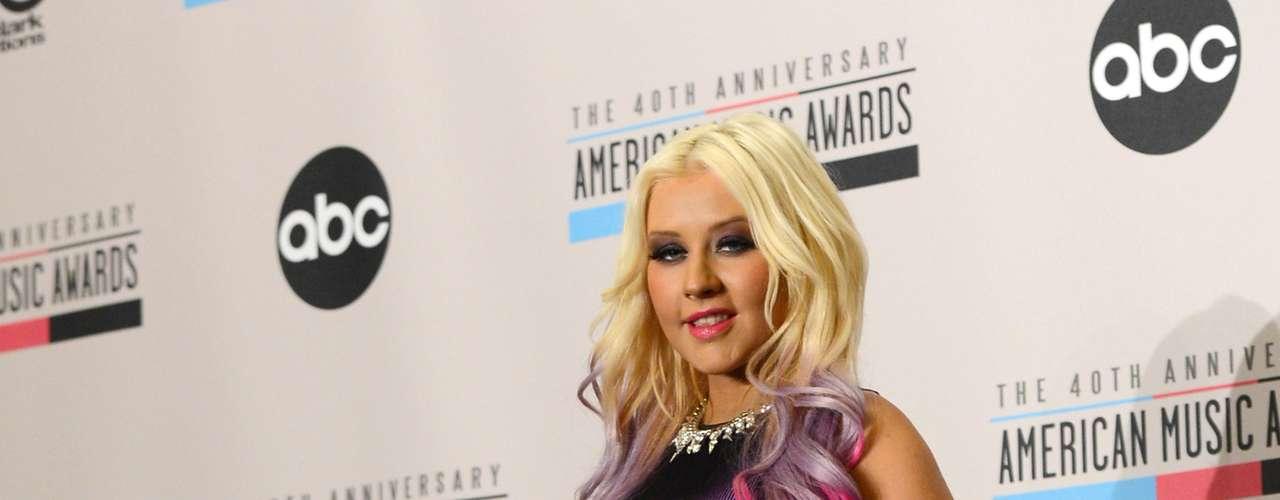 A pesar de estar rellenita, Christina Aguilera se muestra muy segura y conforme con su anatomía.