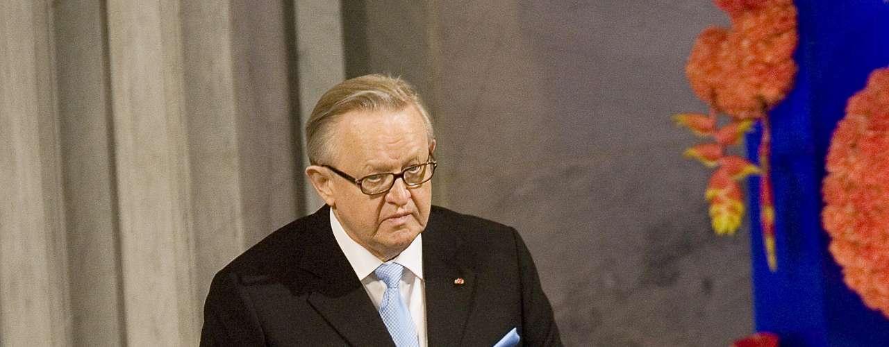 2008: Martti Ahtisaari, Finlandia, \