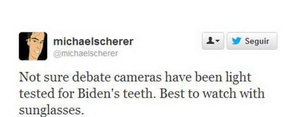 Michael Scherer, el corresponsal de Time en la Casa Blanca, no dudó en hacer humor con la participación de Biden. \