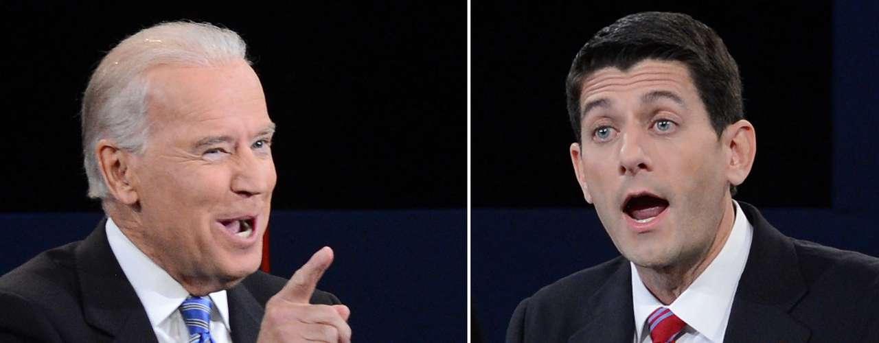 El debate fue acalorado, con Biden interrumpiendo a Ryan varias veces. 'Tratemos de no interrumpir', clamó en un momento Ryan.