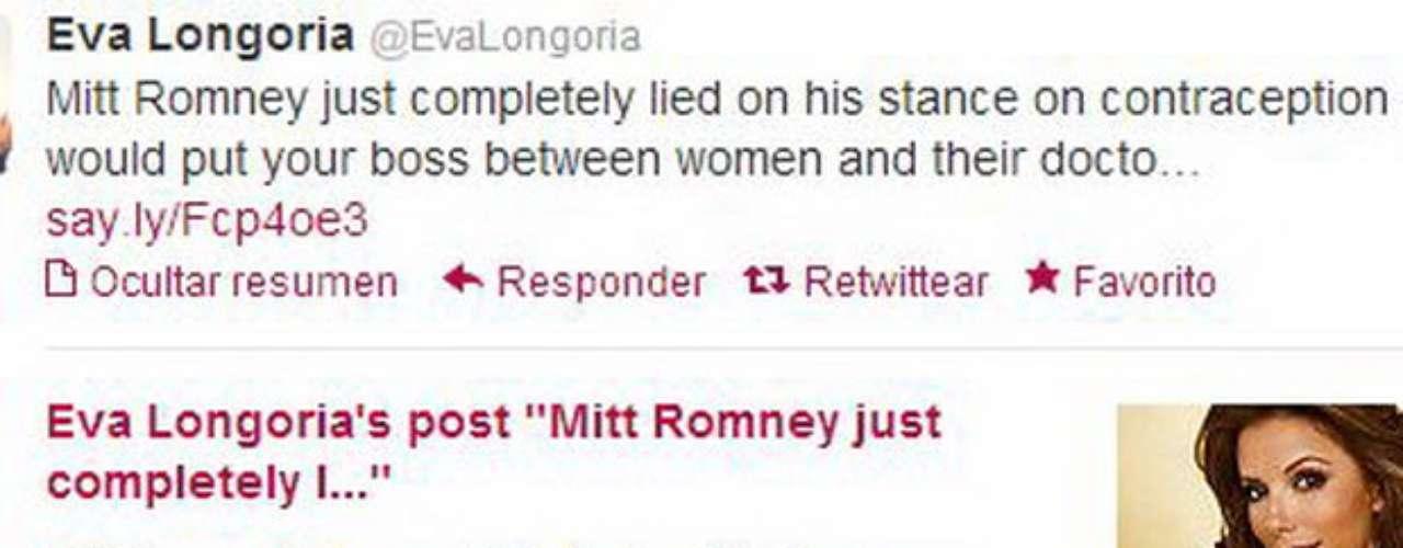 Eva Longoria, la actriz y autodeclarada activista política, dijo que \
