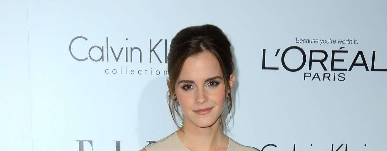 Emma Watson looks incredibly chic in Calvin Klein.