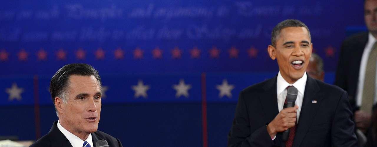 Y como se esperaba, el presidente fue más agresivo con su rival, del que se rió con frecuencia, además de acusarlo de mentiroso.