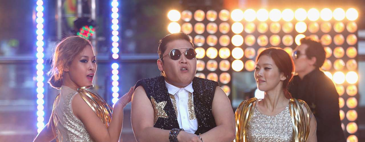 South Korean rapper Psy, performs live on Channel 7's 'Sunrise' at Martin Place on October 17, 2012 in Sydney, Australia. The sudden pop star is on a roll taking his hit \