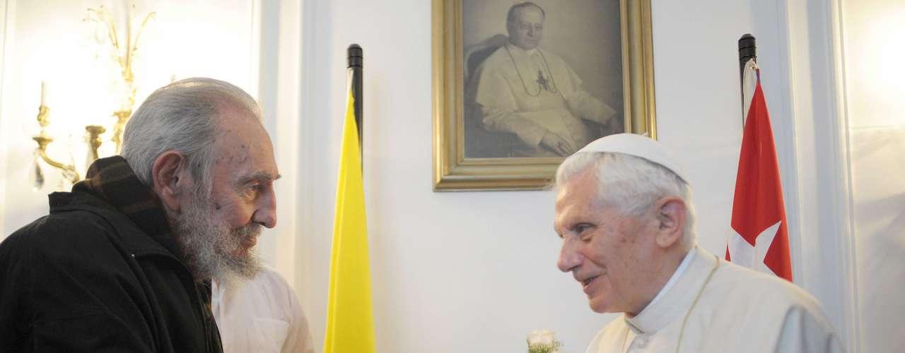 Durante ese encuentro papal, al comandante se le vio enflaquecido pero de buen ánimo y se escuchó parte de su conversación con el Pontífice.