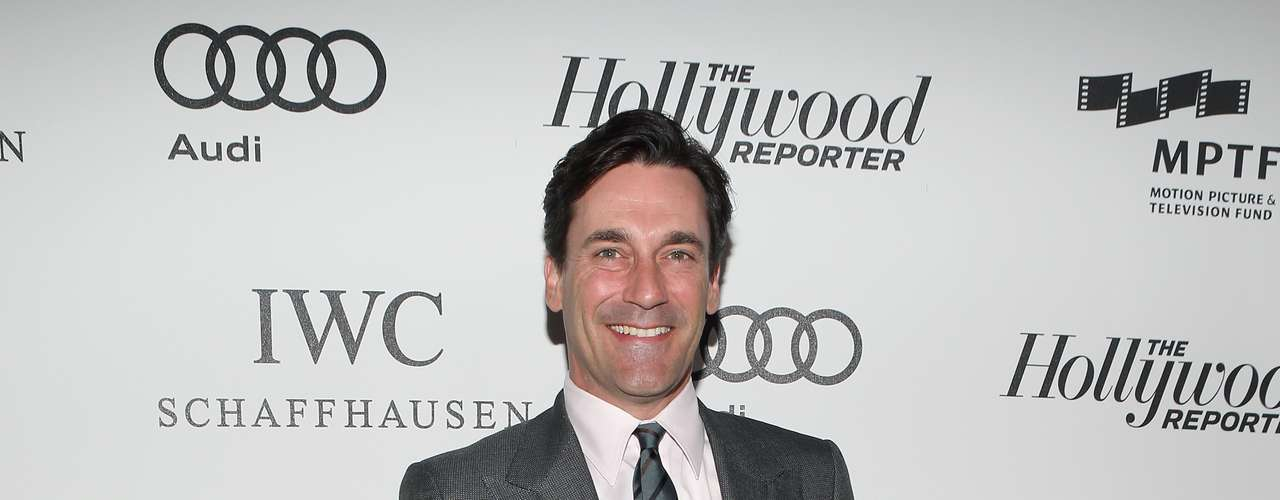 Jon Hamm brought in his A-game to the presentation of 'Reel Stories Real Lives.' The 'Mad Men' actor looked sharp and spiffy with a gray suit. It was recently announced that the new season of the AMC show would film the first episodes in Hawaii. What did you think of Jon's style?