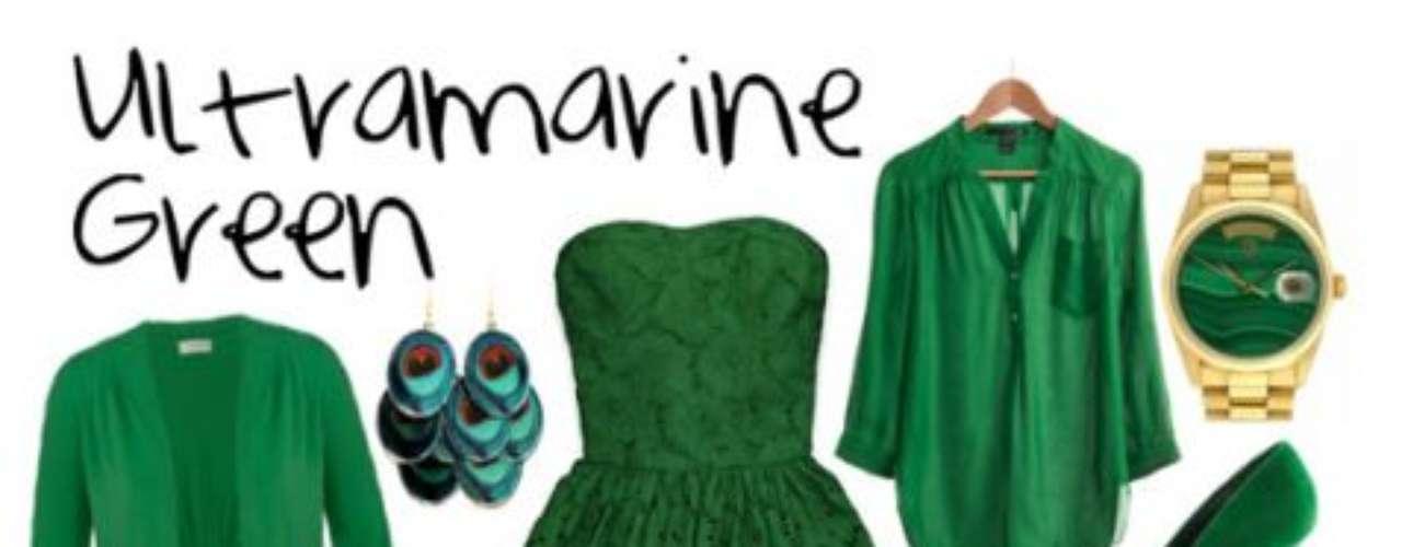 El verde llega con todo, este tono se ve increíble con negro y más en los accesorios.