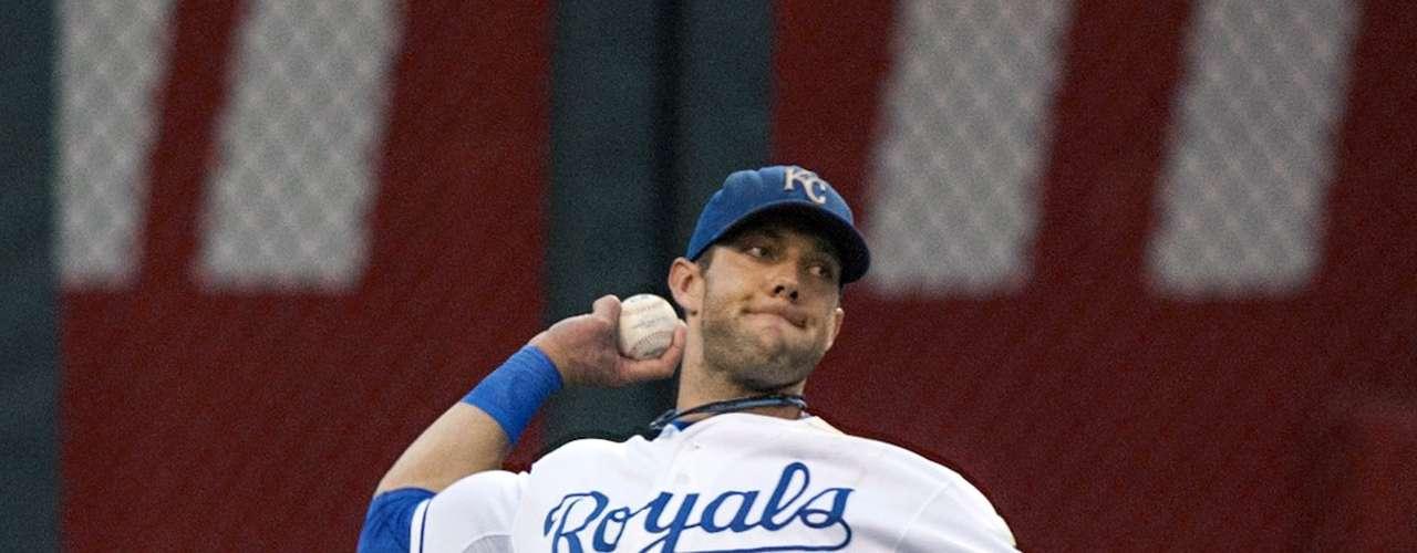 Alex Gordon, de los Reales de Kansas City, ha sido designado como el mejor jugador en el jardín izquierdo en la Liga Americana.