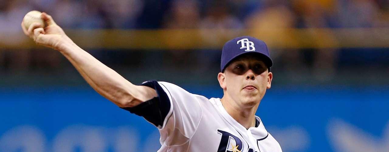 Como pitcher abridor Jeremy Hellickson, de los Rays de Tampa Bay.
