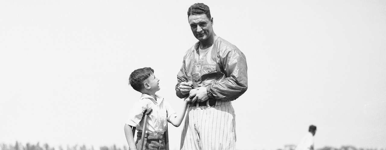 Lou Gehrig died at the age of 38 of the disease (ALS) that now bears his name.