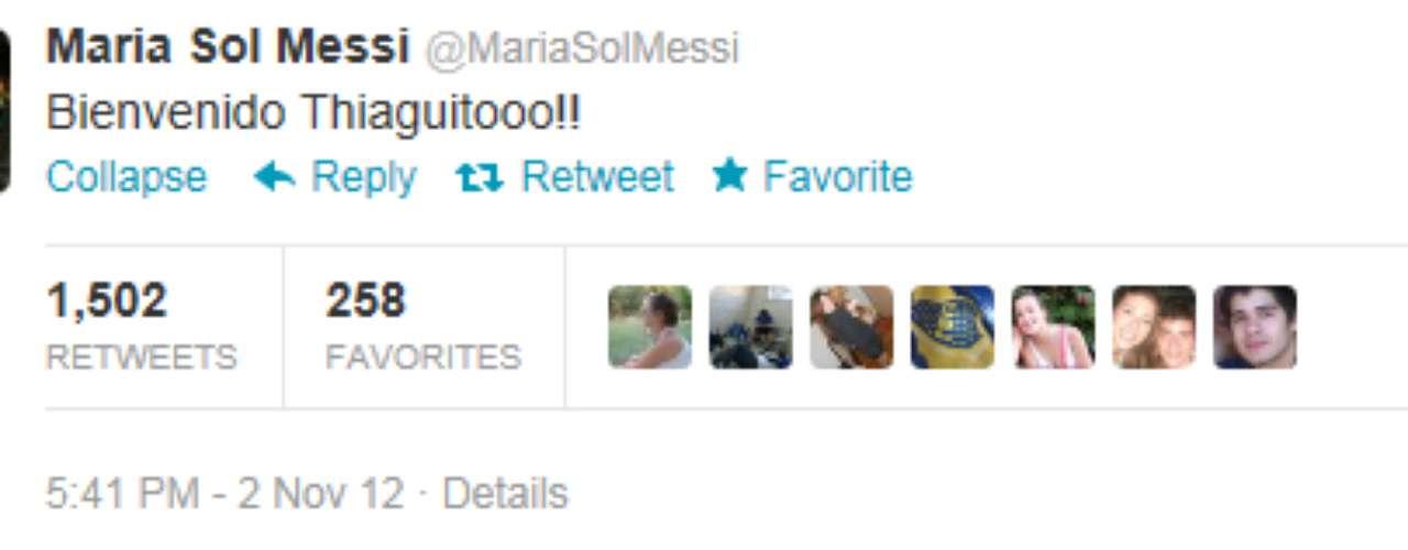 María Sol Messi, hermana del recién estrenado papá, ha sido la encargada de confirmar la noticia a través de su cuenta en Twitter.