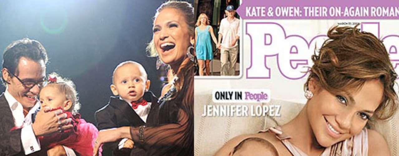 Jennifer Lopez deambula con su pareja Casper y sus gemelos por doquier... Sin duda ellos le recuerdan a su ex marido, Marc Anthony ¡ Tan bella que es JLo!
