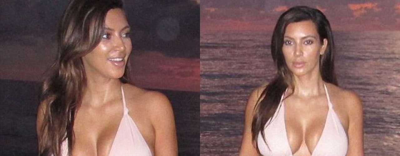 La novia de Kanye West quiso aprovechar el amanecer para irse a dar un chapuzón matutino en compañía de su amigo Jonathan Cheban.