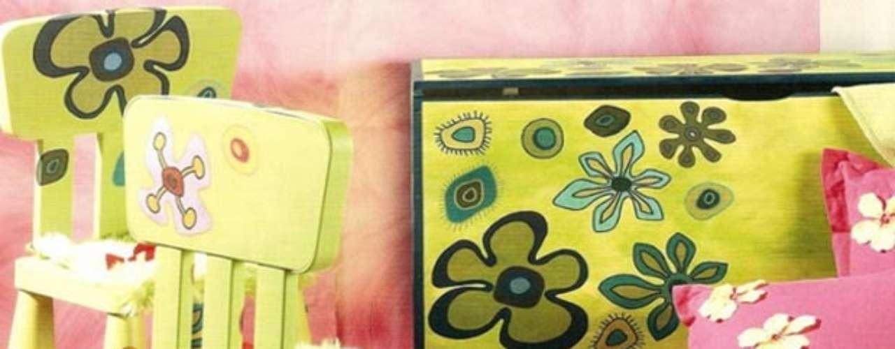 Las formas circulares, las flores con sus alegres colores llenos de vida son una característica del estilo hippie.