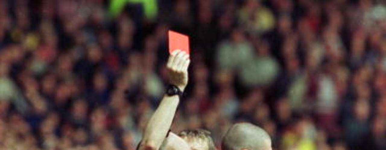 El irlandés Roy Keane se hizo de una fama de 'conflictivo' con el Manchester United.