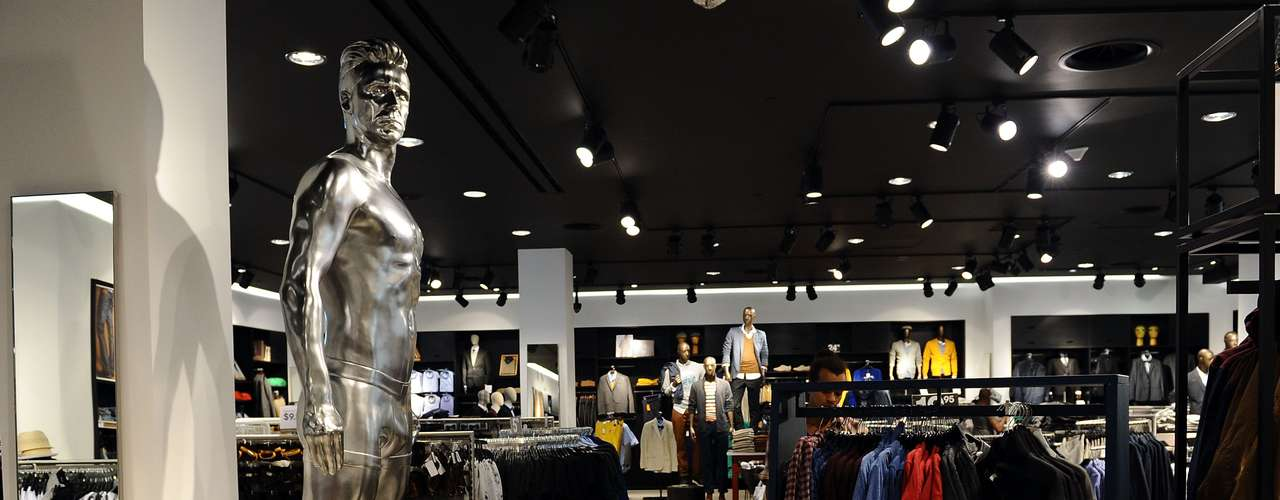 Earlier this year a Beckham statue was erected in the H&M store in London.