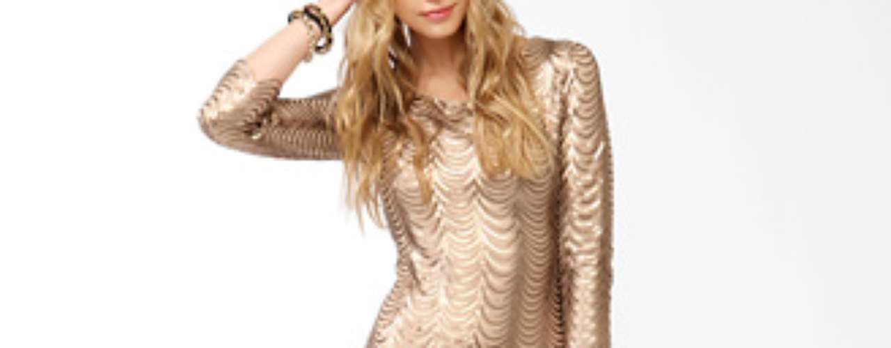 Forever 21 te invita  a seducir con este vestido dorado de apenas 32 dólares.