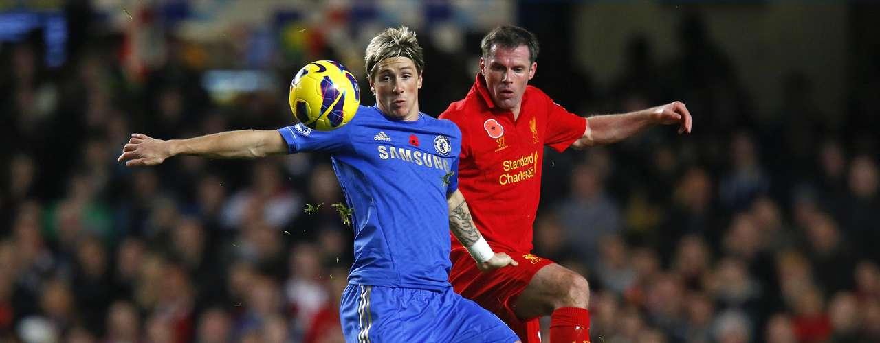 Fernando Torres estuvo bien marcado durante todo el partido.