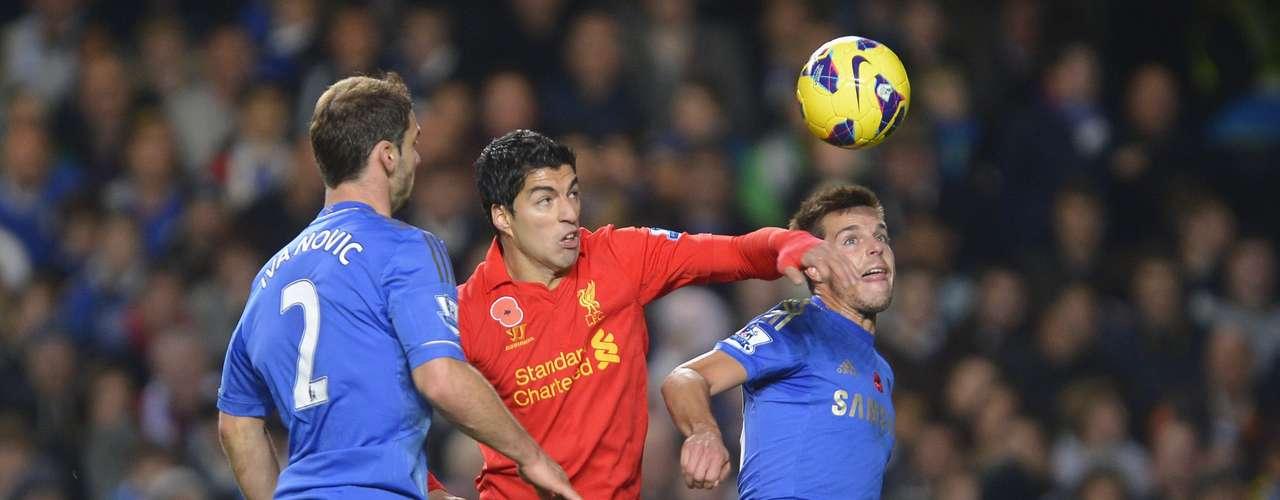Suárez peleó en todo el partido y fue recompensado al final.