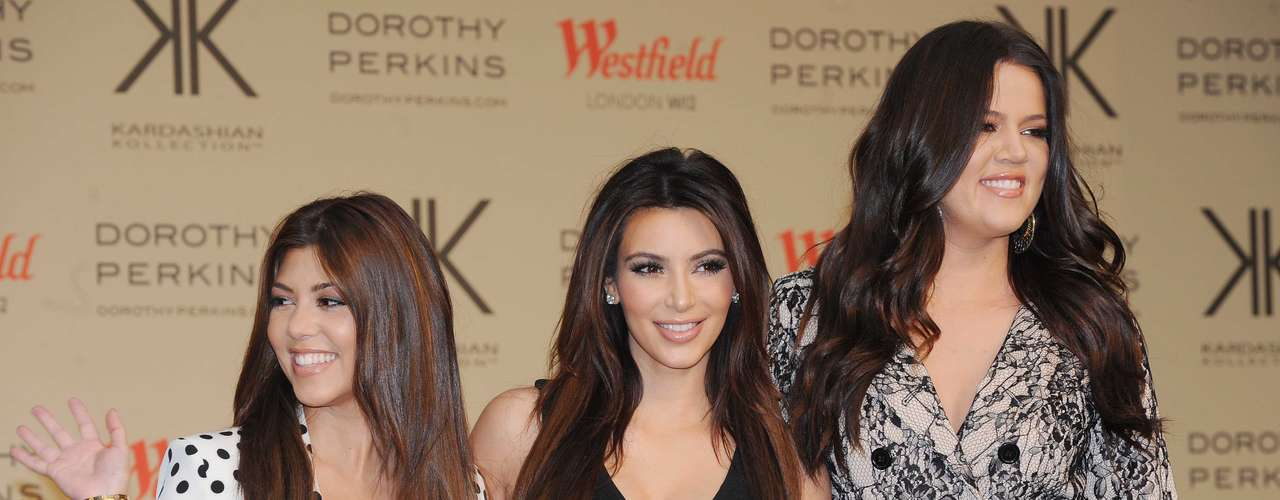 Kourtney, Kim and Khloe Kardashian took over Europe, this weekend.  The sisters recently attended a photocall to launch their Kardashian Kollection for Dorothy Perkins in England.  The event was held at Westfield in London this November 10, 2012.