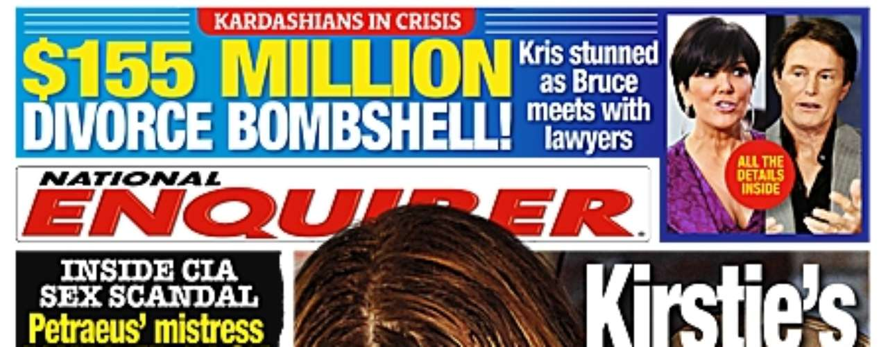 Not only do we get all the details about Kirstie Alley's scandalicious sex life, but there's a Kardashian shocker.  Apparently Bruce Jenner has met up with his lawyers, blindsiding wife, Kris.  Is $155 million dollars really at stake if they divorce?  We'll just have to pick up the Enquirer to find out.