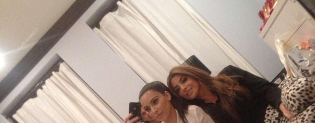 She also took to the social media site, yesterday, and shared another pic of herself with former \