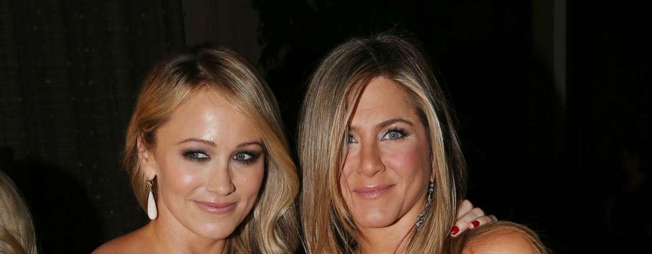 Ambas actrices se miraban radiantes.