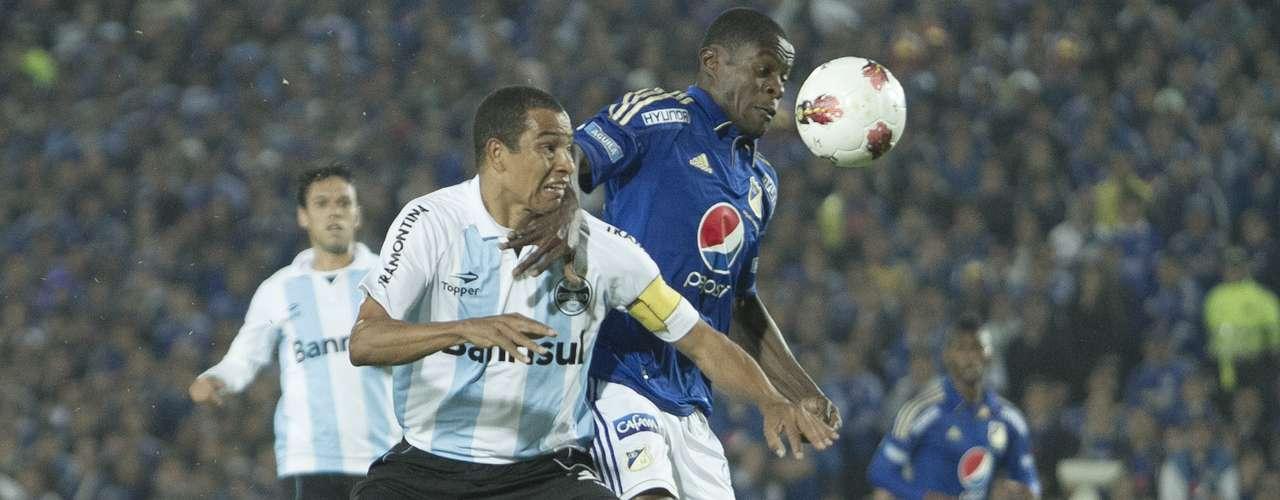 El visitante se puso arriba en el marcador con un gol de Werley a los 12 minutos, tras un tiro libre de Gilberto Silva, donde el arquero Delgado dio rebote que cazó el defensor para definir sin arquero
