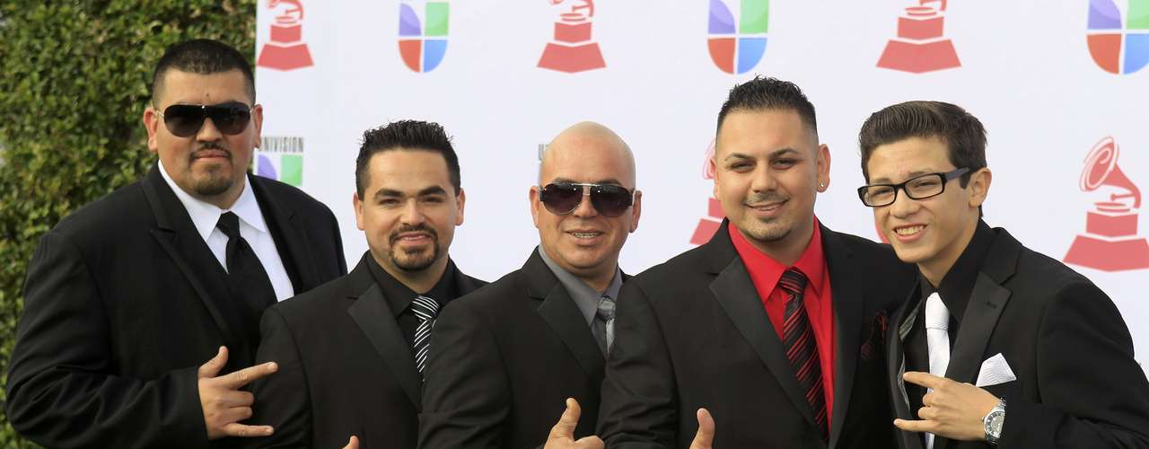Grupo Destino arrive at the 13th Latin Grammy Awards in Las Vegas, Nevada, November 15, 2012.   REUTERS/Steve Marcus (UNITED STATES  - Tags: ENTERTAINMENT)