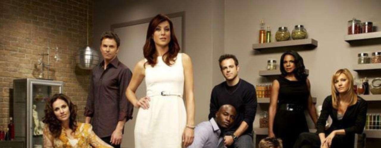 'Private Practice': 6 temporadas. En el arranque de la última temporada para Adisson (Kate Walsh) se ve de inmediato por quién se decidió la suertuda doctora: ¿Jake (Benjamin Bratt) o Sam (Taye Diggs)?, ya que la acción inicia tres meses después.