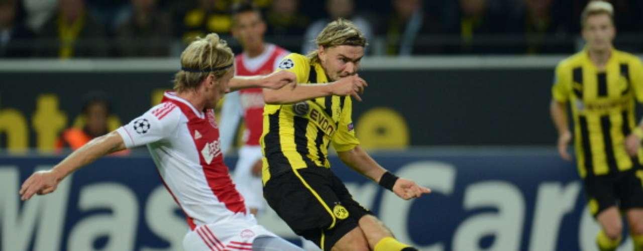 miércoles 21 de noviembre - Borussia Dortmund visita al Ajax en duelo del Grupo de la muerte