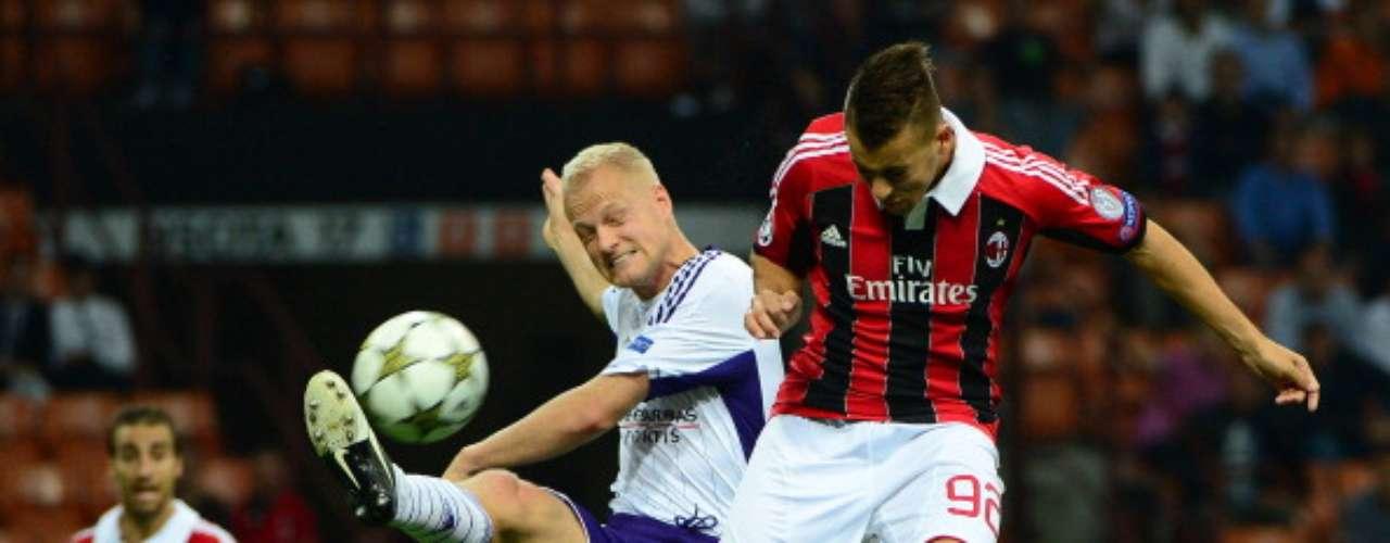 miércoles 21 de noviembre - Andrelecht recibe al Milan, ambos equipos buscan un boleto en el Grupo B