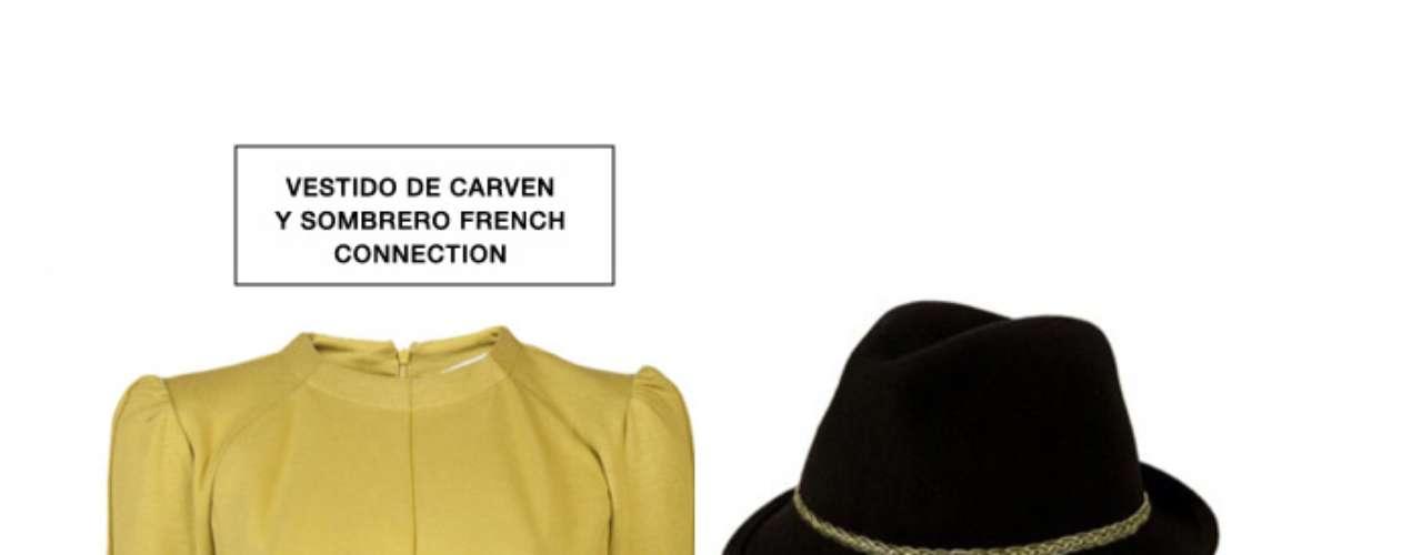 Los sombreros se han convertido en el 'must have' de la temporada. Qué mejor forma de llevarlos con estilo que con un vestido de un solo color y una pañoleta al mejor estilo Alexander McQueen.