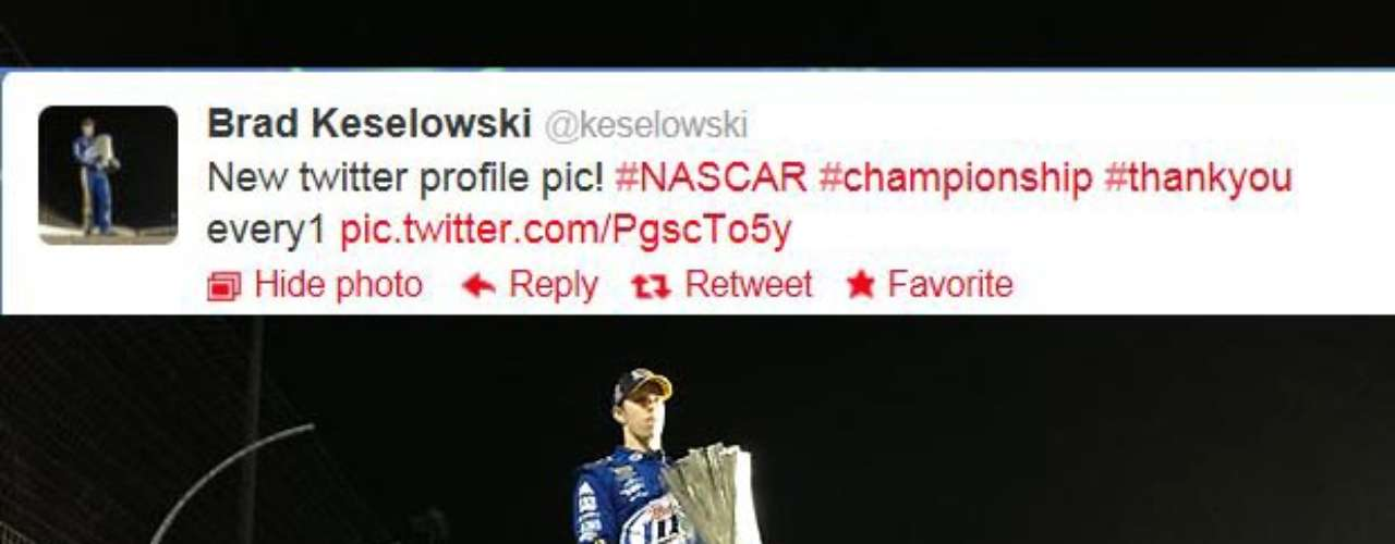 First-time NASCAR Sprint Cup champion Brad Keselowski changes his Twitter profile pic to this after clinching the title Sunday.