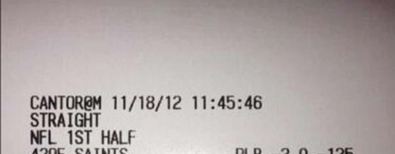 Floyd Mayweather continues to win big in gambling. Here is is stub from the Satins game, and he earlier tweeted winning $45,000 in 30 minutes on the Bengals game, and $50,000 on the first half of the Detroit Pistons NBA game.