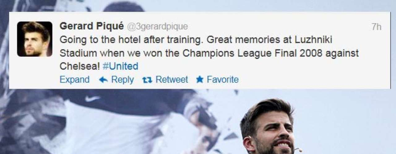 Teammate Gerard Pique tweeted happy memories after the training session.