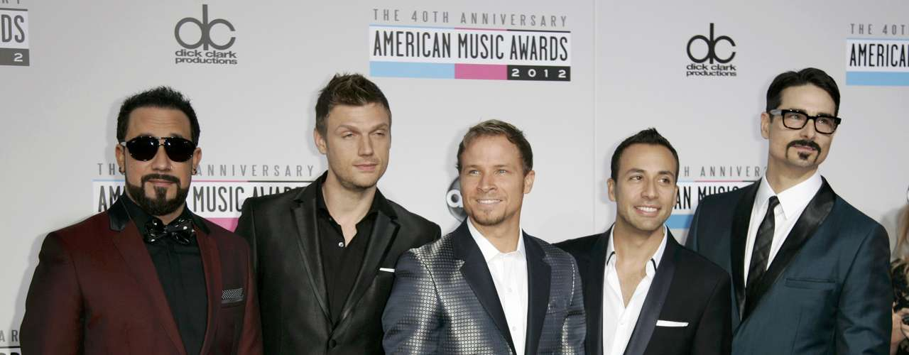 The Backstreet Boys arrive at the 40th American Music Awards in Los Angeles, California November 18, 2012.    REUTERS/Jonathan Alcorn (UNITED STATES  - Tags: ENTERTAINMENT)  (AMA-ARRIVALS)