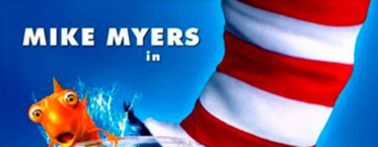 CUENTOS: The Cat in the Hat- El gato, 2003. Mike Myers protagoniza esta película en el papel del travieso visitante felino con sombrero que enseña a dos niños que \