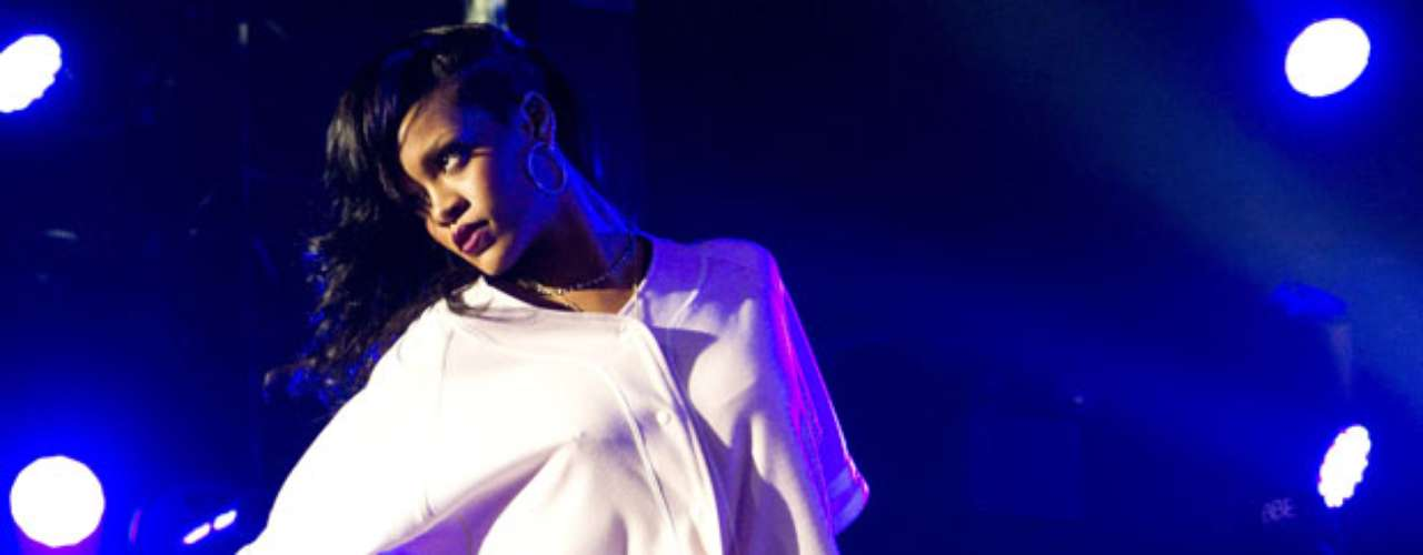 Rihanna closes her '777' tour with pantless performance at New York City's Webster Hall on November 20.