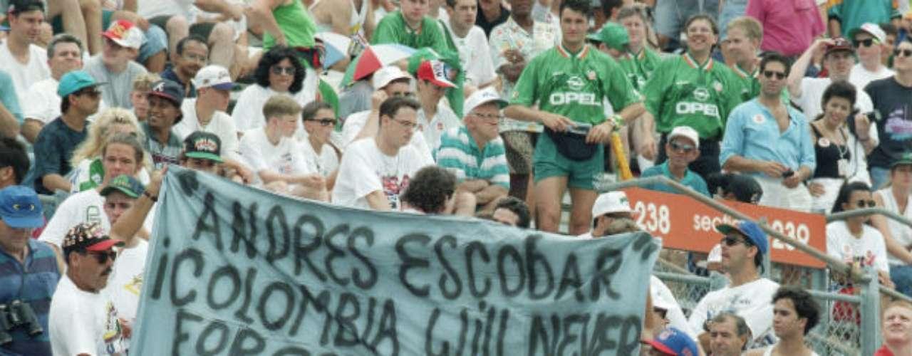 Después de su muerte, Escobar aún era recordado por la afición durante el Mundial de 1994.