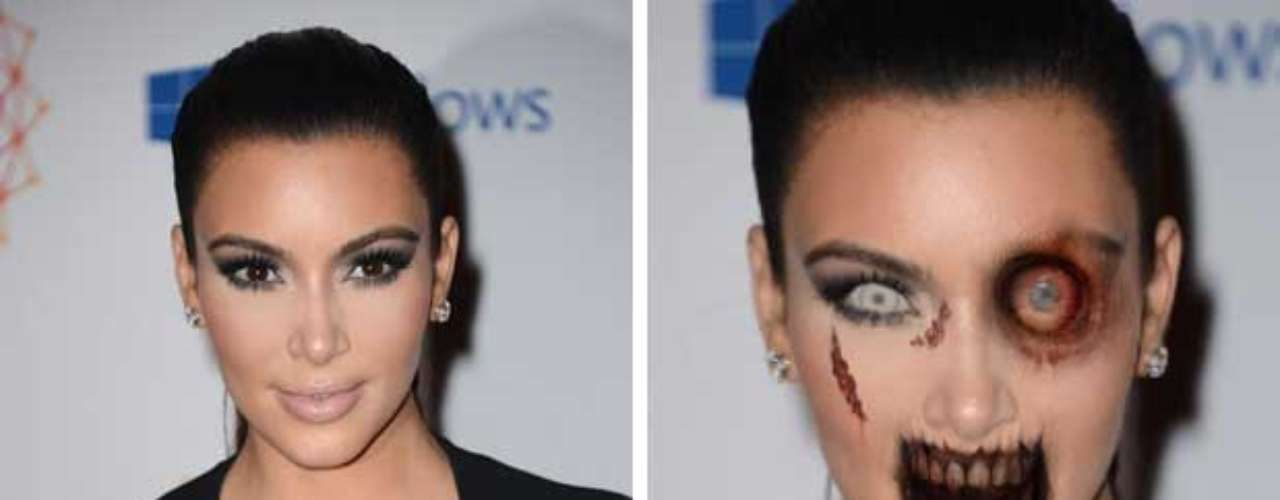 Kim Kardashian seguramente tendría muchas víctimas para alimentarse luego del apocalipsis porque ¿quién se resistiría a ofrecerle su cuello con tan grandes curvas?
