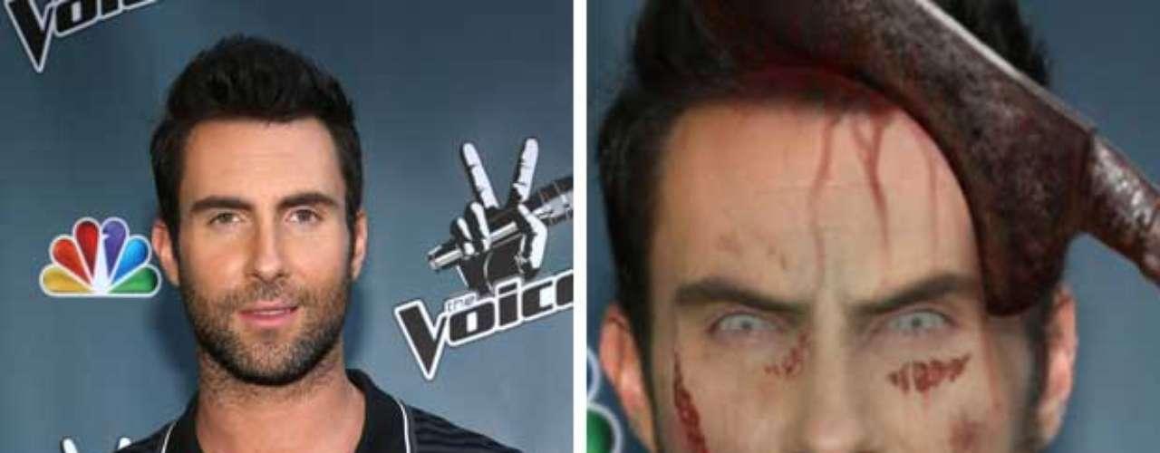 Adam Levine, el sexi y guapo vocalista de Maroon 5, aún como monstruo sería muy difícil de resistir.