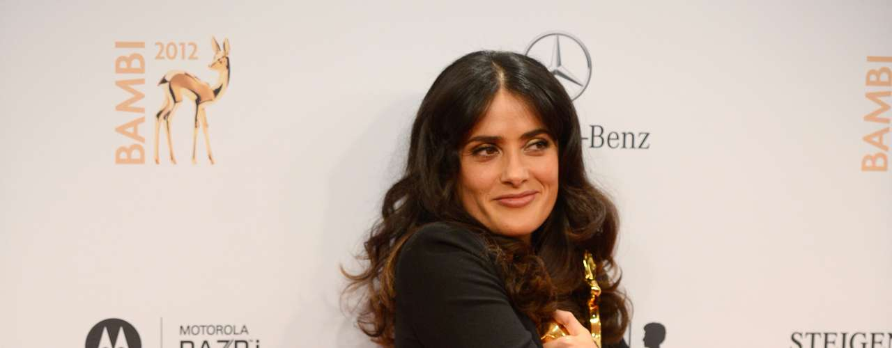 Salma Hayek received the German Bambi Award for his career in the film industry. She was recognized with the award at the International Film category for his achievements.