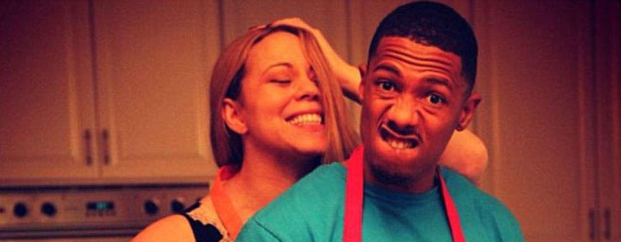 Cocinando con Mariah y Nick: La cantante y su marido se divierten en la cocina durante Acción de gracias