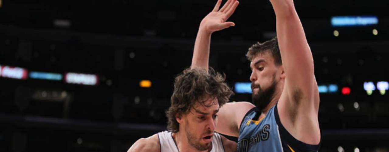 It's Gasol against Gasol as Pau battles Marc tonight.