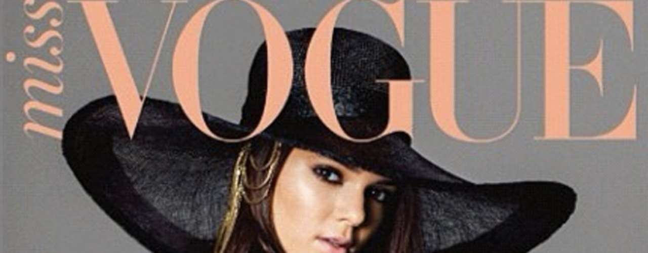 Kim Kardashian seems to be jealous of littler sister Kendall Jenner. The young socialite recently posed for Australia's edition of Miss Vogue.