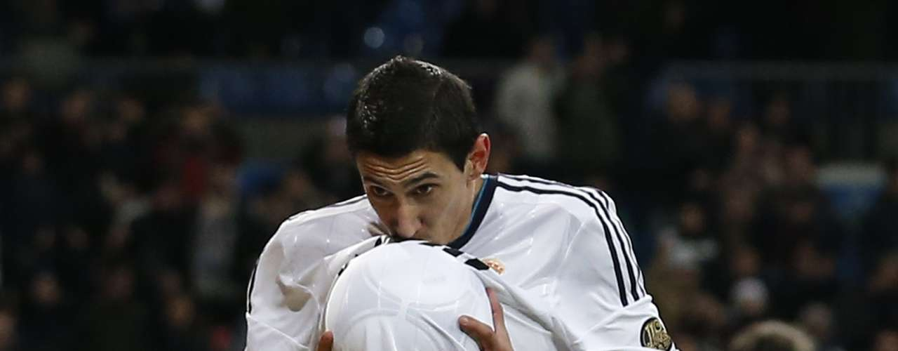 Di Maria celebrated his goal with the traditional \