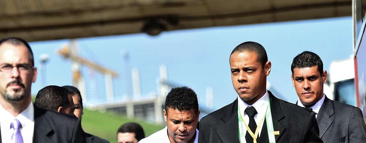 Ronaldo llega a la Arena Corinthians para la visita.